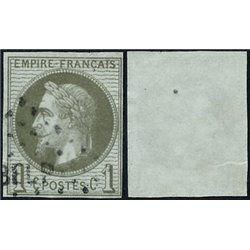 1863 French Colonies  Sc# 29  (o) Used, Nice. Napoleon III  Laurel 1c. (Scott)