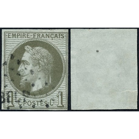 1863 France  Sc# 29  0. Napoleon III  Laurel 1c. (Scott)