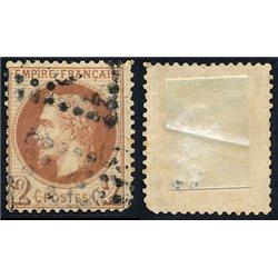 1863 Francia Yv 26A Napoleon III Laureado 2c.  (o) Usado, Buen Estado  (Yvert&Tellier)