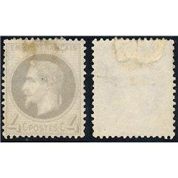 1863 Francia Yv 27A Napoleon III Laureado 4c.  (o) Usado, Buen Estado  (Yvert&Tellier)