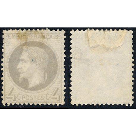 1863 France  Sc# 31  0. Napoleon III  Laurel 4c. (Scott)