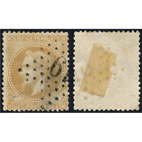 1867 France  Sc# 32  0. Napoleon III  Laurel 10c. (Scott)