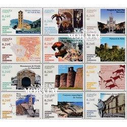 2001 Spanien  Mi 3678/3689 Erbes Menschheit UNESCO ** Perfekter Zustand, Postfrisch   (Michel)