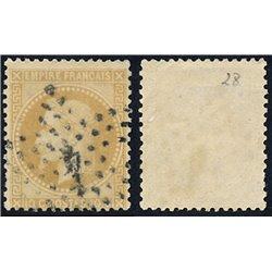 1867 Francia Yv 28A Napoleon III Laureado 10c. (I)  (o) Usado, Buen Estado  (Yvert&Tellier)