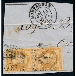 1867 Francia Yv 28B Napoleon III Laureado 10c. (II)  (o) Usado, Buen Estado  (Yvert&Tellier)