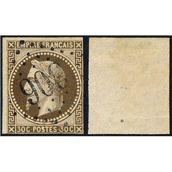 1867 France  Sc# 34  0. Napoleon III  Laurel 30c. (Scott)