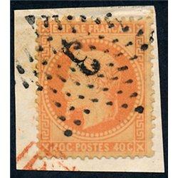 1867 France  Sc# 35a  0. Napoleon III  Laurel 40c. (Scott)