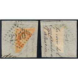 1867 France  Sc# 35a  (o) Used, Nice. Napoleon III  Laurel 40c. (Scott)