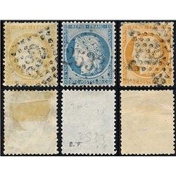 1870 France  Sc# 50, 57, 59  0. Type Ceres (Paris) (Scott)