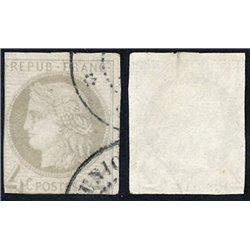 1870 France  Sc# 0  0. Ceres (Bourdeaux) 4c. (Scott)
