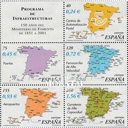 2001 Spanien  Mi 3690/3694 Ministerium für öffentliche Arbeiten  ** Perfekter Zustand, Postfrisch   (Michel)