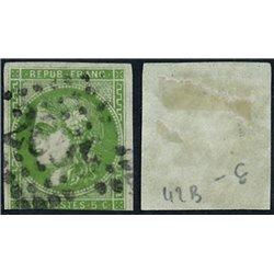 1870 France  Sc# 41  (o) Used, Nice. Ceres (Bourdeaux) 5c. (Scott)