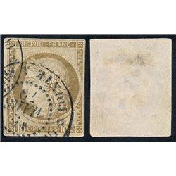 1870 France  Sc# 55b  0. Ceres (Bourdeaux) 10c. (Scott)