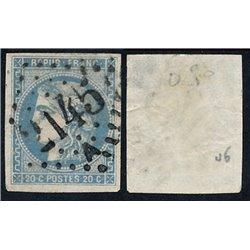 1870 France  Sc# 44  0. Ceres (Bourdeaux) 20c. (Scott)