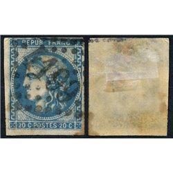 1870 France  Sc# 0  0. Ceres (Bourdeaux) 20c. (Scott)