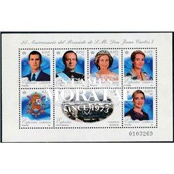 2001 Spanien  Kleinbogen Block 25° Herrschaft D. Juan Carlos ich  ** Perfekter Zustand  (Michel)