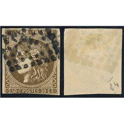 1870 France  Sc# 46  0. Ceres (Bourdeaux) 30c. (Scott)
