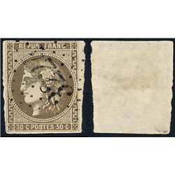 1870 France  Sc# 46  (o) Used, Nice. Ceres (Bourdeaux) 30c. (Scott)