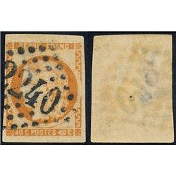 1870 France  Sc# 47  0. Ceres (Bourdeaux) 40c. (Scott)