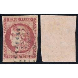 1870 France  Sc# 48  (o) Used, Nice. Ceres (Bourdeaux) 80c. (Scott)
