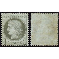 1872 France  Sc# 50  0. Ceres 1c. (Scott)