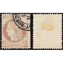 1872 France  Sc# 51  0. Ceres 2c. (Scott)