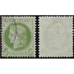 1872 France  Sc# 53  0. Ceres 5c. (Scott)