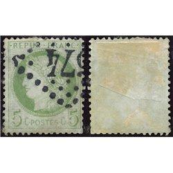 1872 Frankreich Mi# 48a  0. Cereskopf 5c. (Michel)