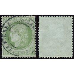 1872 France  Sc# 53  (o) Used, Nice. Ceres 5c. (Scott)