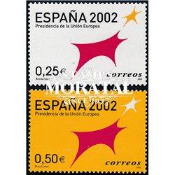 2002 Spanien 3702/3703  Spanien EU-Präsidentschaft 2002  ** Perfekter Zustand  (Michel)