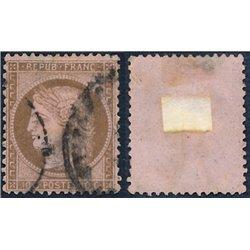 1873 France  Sc# 55  0. Ceres 10c. (Scott)