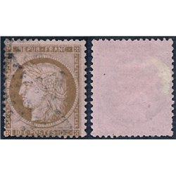 1873 France  Sc# 55  (o) Used, Nice. Ceres 10c. (Scott)