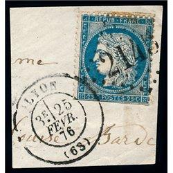 1873 France  Sc# 58  0. Ceres 25c. (Scott)