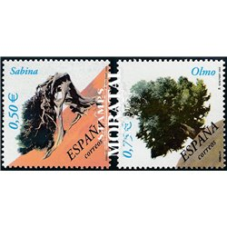 2002 Spain  Sc 3143/3144 Trees Trees and forests **MNH Very Nice, Mint Hever Hinged?  (Scott)