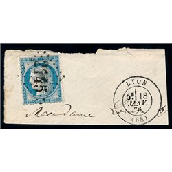 1873 France  Sc# 0  (o) Used, Nice. Ceres 25c. (Petits Chiffres) (III) (Scott)