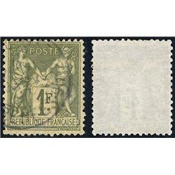 1876 France  Sc# 76  0. Sage 1 Fr. (Scott)