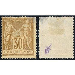 1876 France  Sc# 82  0. Sage 30c. (Scott)