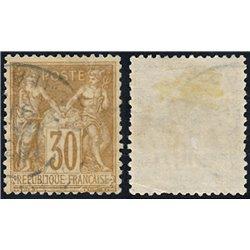 1876 France  Sc# 82  (o) Used, Nice. Sage 30c. (Scott)