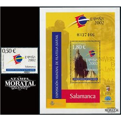 2002 Spain  Sc 3146/3147 Sheet Expo. Spain 2002 Exposition **MNH Very Nice, Mint Hever Hinged?  (Scott)