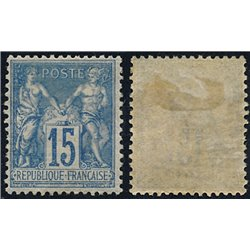 1892 France  Sc# 103  0. Sage 15c. (Scott)