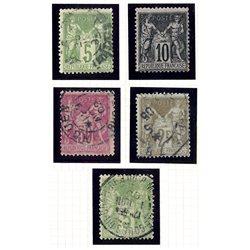 1898 France  Sc# 104/108  (o) Used, Nice. Sage (Complete) (Scott)