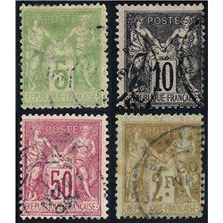 1898 France  Sc# 104/108  0. Sage (Complete) (Scott)