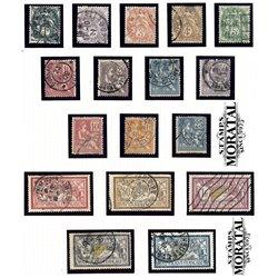 1900 France  Sc# 109/126 + 130  (o) Used, Nice. Blanc, Mouchon & Merson (Scott)  Generic Series