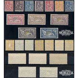 1900 Frankreich Mi# 91I, 91II/100a  (*) Ungummiert, Guter Zustand. Mouchon (Michel)  Serie Gene