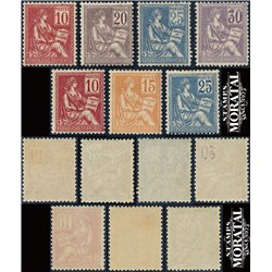1900 France  Sc# 114/120  ** MNH Very Nice. Mouchon & Merson (Scott)  Generic Series