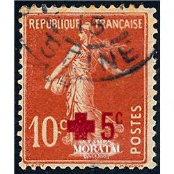 1914 Frankreich Mi# 125  (o) Gebrauchte, Zustand. Rotes Kreuz (Michel)  Rotes Kreuz