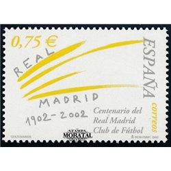 2002 Spanien  Mi 3724 Prozent. Real Madrid Fußball ** Perfekter Zustand, Postfrisch   (Michel)