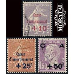 1928 France  Sc# B28/30  0. Sinking Fund Issues (Scott)