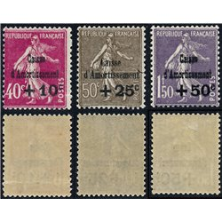 1930 Frankreich Mi# 252/254  * Falz Guter Zustand. Staatsschuldentilgungskasse (Michel)