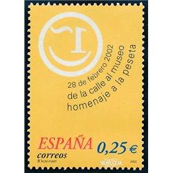 2002 Spain  Sc 3152 Homage to the peseta  **MNH Very Nice, Mint Hever Hinged?  (Scott)